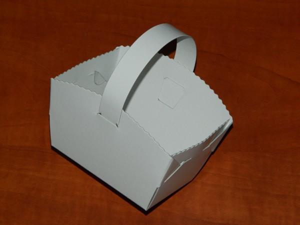 Svatební košíčky s ouškem 10 x 8 x 6 cm - 10ks