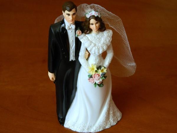 Svatební figurky - bruneta